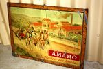 Antique French Amaro Tin Advertising Sign.
