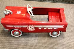 Classic Fire Truck Pedal Car.#