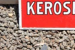 Australian Texaco Kerosene Post Mount Enamel Sign