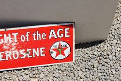 Australian Texaco Kerosene Post Mount Enamel Sign