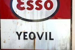 Esso Yeovil Enamel Advertising Sign