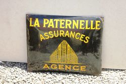 French Convex Insurance Enamel Sign.#