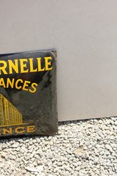 French Convex Insurance Enamel Sign