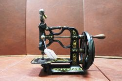 Antique New England Short Version Sewing Machine C1825.#