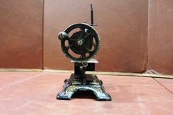 Antique Tin Plate Childs Sewing Machine