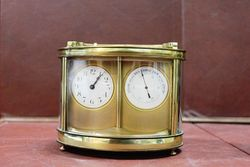 Early 20th Century Dual Carriage Clock-Barometer