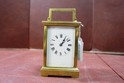 Late 19th Century Brass Carriage Clock With Striking Movement #