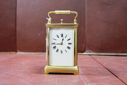 Late 19th Century French Repeater Brass Carriage Clock #