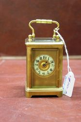 Late 19th Century Miniature Brass Carriage Clock#