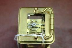 Late 19th Century Miniature Brass Carriage Clock