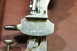 The Moldacot Pocket Lockstitch Antique Sewing Machine In Original Case