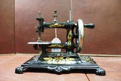 Wonderful Quality Late 19th Century Cast Sewing Machine.#