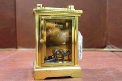 20th Century Fema 11 Jewels London Brass Cariage Clock