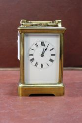 Large Early 20th Century Brass Carriage Clock #