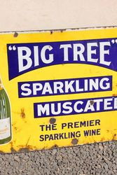 Big Tree Sparkling Wine Enamel Advertising Sign