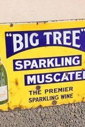 Big Tree Sparkling Wine Enamel Advertising Sign