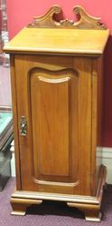 Edwardian Satin Walnut Bedside Cabinet.#