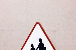 Enamel Children Crossing Sign
