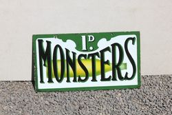 Monsters Double Sided Enamel Sign.#
