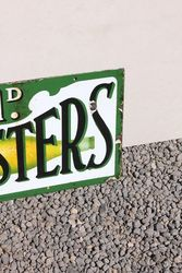Monsters Double Sided Enamel Sign