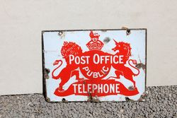 Post Office Double Sided Enamel Sign.#