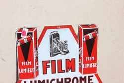 Vintage Lumiere Film Double Sided Pictorial Enamel Sign