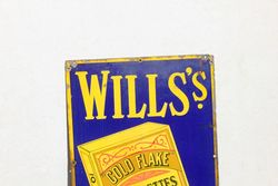 Wills Gold Flake Pictorial Enamel Advertising Sign