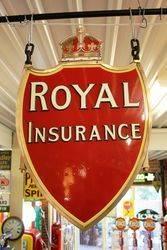 Royal Insurance Shield Enamel Sign.