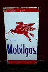 Mobilgas Pegasus Pictorial Enamel Advertising Sign.#