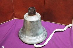 Antique Bronze Bell, Stamped Meller.#