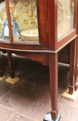 Edwardian Bowfronted Inlaid Mahogany Display Cabinet c 1910