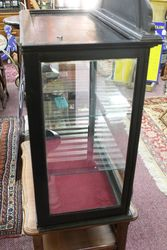 Antique Fryand39s Chocolate Advertising Cabinet With Pediment Top Sign