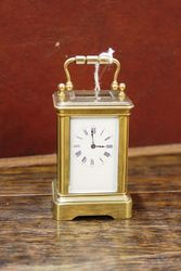 Early 20th Century Miniature Brass Carriage Clock.#