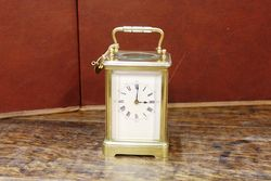 Early 20th Century Striking Brass Carriage Clock.#