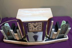 c1930s Art Deco Marble Clock