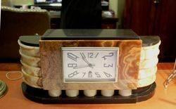 1930s Art Deco Marble Mantle Clock.#
