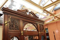 A Quality Late Victorian Walnut Hall Stand C1895