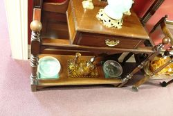Late Victorian Mirror Backed Walnut Hallstand