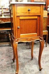 Early C20th French Walnut Bedside Cabinet.