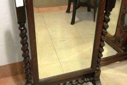 Oak Barley Twist Cheval Mirror C1920