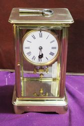 Antique Brass Crystal Regulator Clock With Mercury Pendulum.#