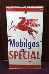 Mobilgas Special Flying Pegasus Enamel Advertising Sign.#