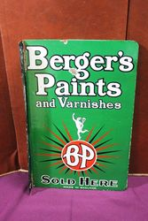 Bergers Paints Double Sided Post Mount Enamel Sign.#