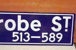 Latrobe Street Enamel Melbourne Street Sign