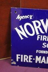 Norwich Union Insurance Agency Enamel Advertising Sign