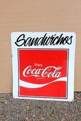 Coca Cola Milk Bar Tin advertising Sign.#