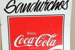 Coca Cola Milk Bar Tin advertising Sign