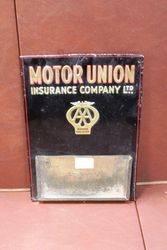 AA Motor Union Insurance Embossed Tin Desk Display