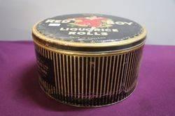 ASWilkin Red Boy Liquorice Rolls Tin