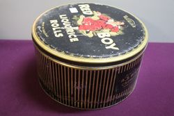 ASWilkin Red Boy Liquorice Rolls Tin